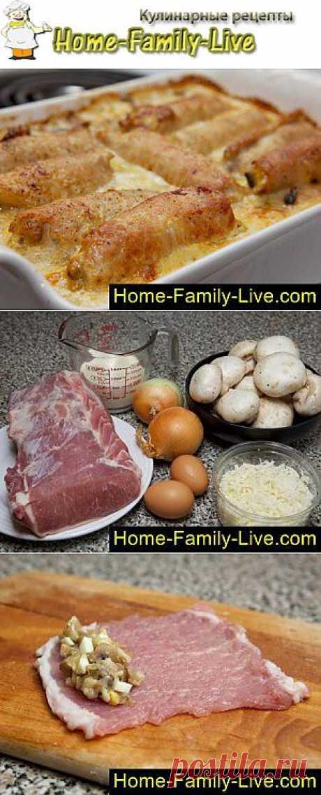 Крученики - пошаговый фоторецепт - мясные рулеты с начинкой | Кулинарные рецепты