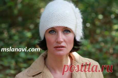 Вязаная шапка спицами | Вяжем с Лана Ви
