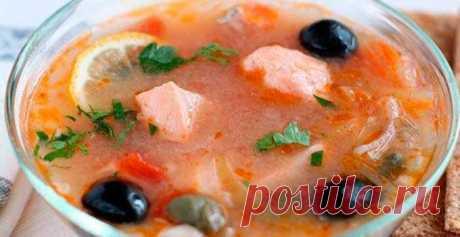 Солянка рыбная с красной рыбой | Кулинарный портал
