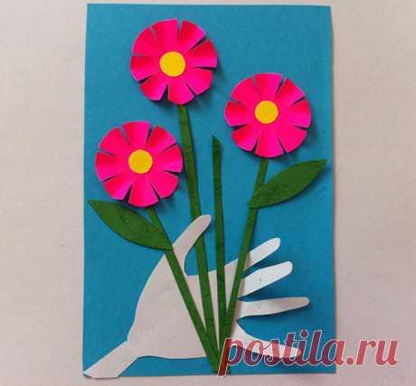 Поделки на 8 Марта своими руками из бумаги, ватных дисков - Как сделать поделку на 8 Марта для мамы, бабушки, в детский сад