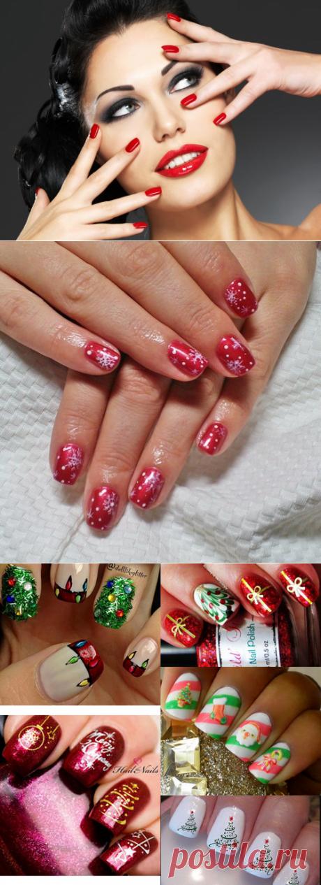 El diseño a la moda invernal de las uñas de la foto, la manicura hermosa invernal 2017-2018 fotos de la idea de la manicura invernal