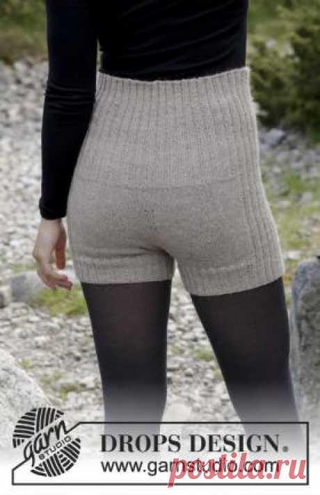 Теплые шорты спицами для женщин