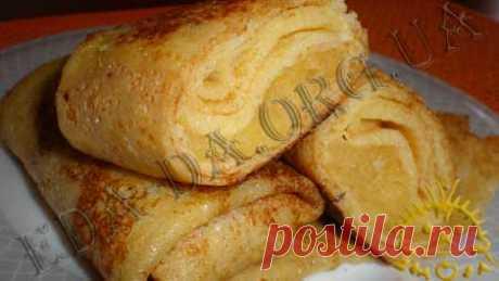 Кулинарный блокнотик для дочери - Разные блюда - Блины с яблочной начинкой