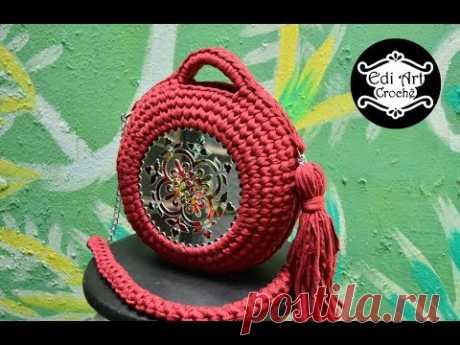 Como fazer bolsa de crochê com fio de malha - Bolsa Mafalda - Bag crochet - Boho -  | Edi Art Crochê
