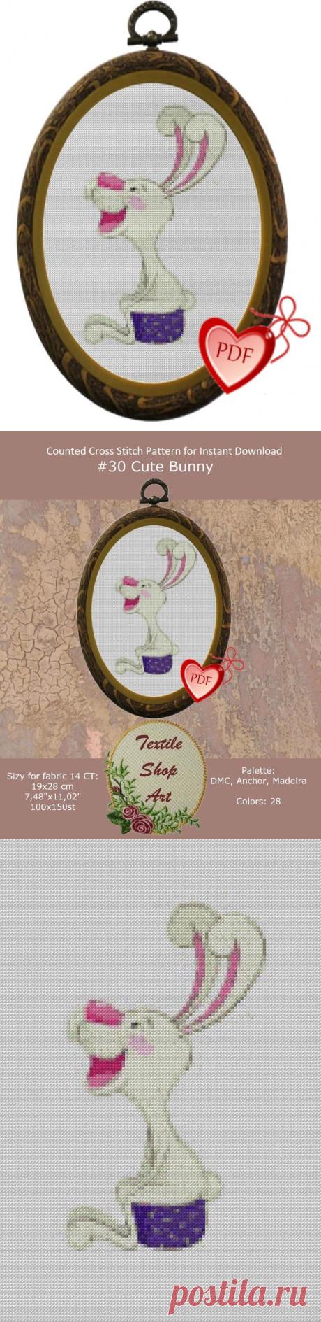 Cute Bunny Cross Stitch Pattern Cross Stitch for Beginners | Etsy