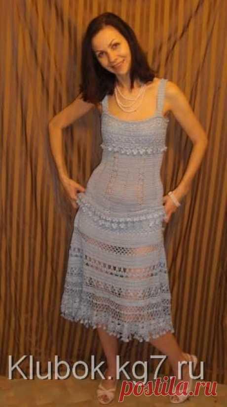 Красивейшее ажурное платье крючком с подрооообнейшим описанием. Пошаговые фото.