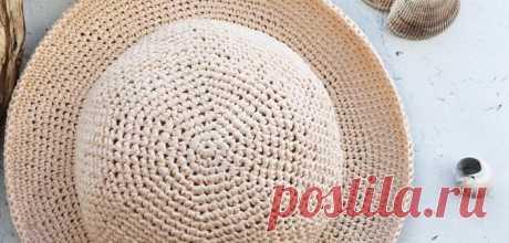 Как связать шляпку из рафии: 5 вариантов со схемами   Рукоделие