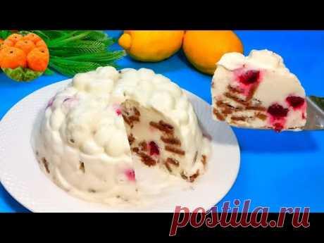 Торт без выпечки. Потрясающе Вкусный Торт Без Духовки. Торт из Печенья. Вкусно - пальчики оближешь