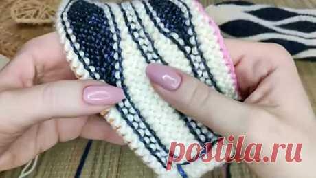 Митенки спицами в технике СВИНГ Мастер-класс со схемами укороченных рядов Knitting mittens💗
