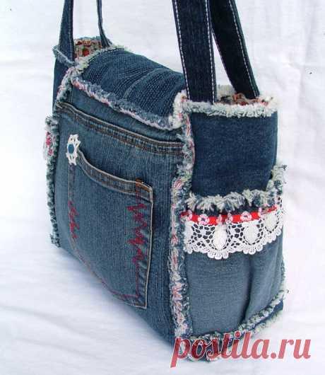 Рюкзаки и сумки из старых джинсов своими руками фото 636