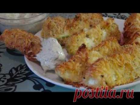 Los calabacines admirables en de queso panirovke