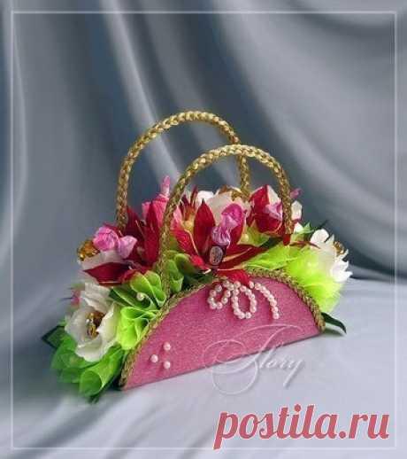 Красивая корзинка для цветов. МК