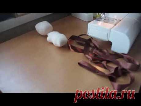 (9) Как сделать волосы для куклы из атласной ленты - YouTube