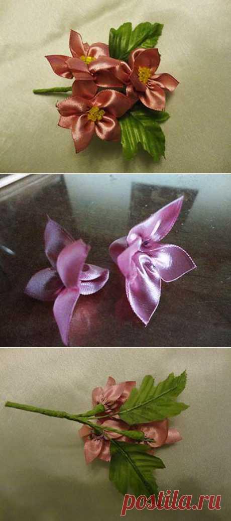 Фантазийные цветы без использования инструментов.