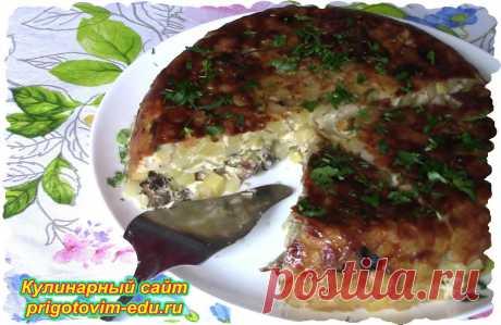 Картофельная запеканка с грибами в мультиварке | Простые пошаговые фото рецепты | Яндекс Дзен