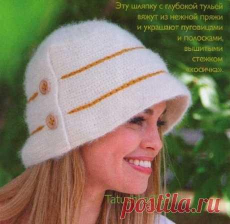 Женские шляпки крючком — 11 моделей со схемой и описанием