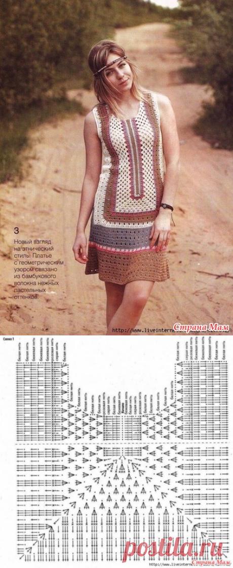 платье Сафари - Вязание - Страна Мам