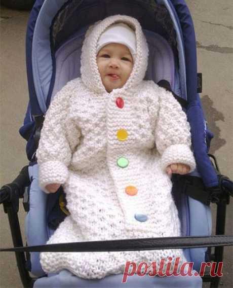 Конверт для новорожденного спицами: как связать + схемы