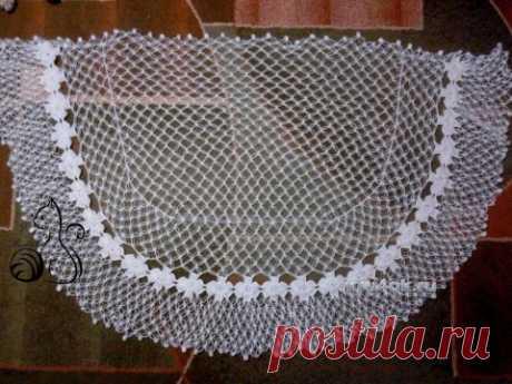 Мастер класс по вязанию ажурной шали Соломоновыми петлями