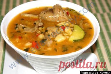 Суп из фасоли консервированной