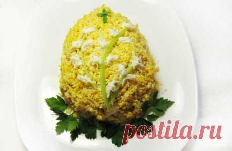 """Салат """"Пасхальное яйцо"""" - пошаговый кулинарный рецепт с фото на Повар.ру"""