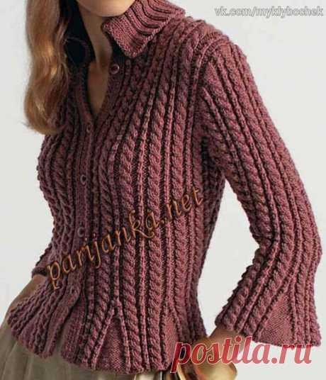 La blusa por los rayos\u000d\u000a#вязание #спицами