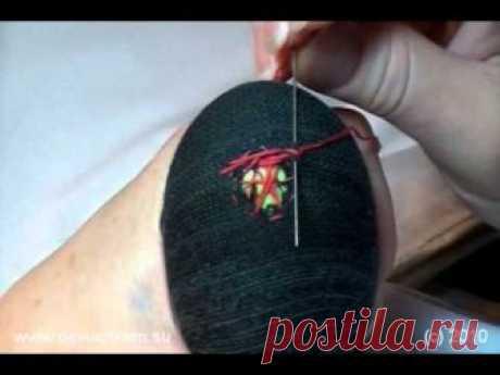 Как штопать носки, зашиваем дырку