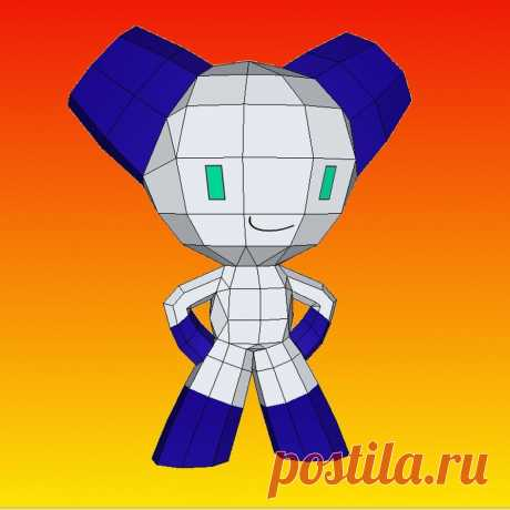 Robotboy papercraft This is a very simple papercraft of Robotboy. I have casually seen this cartoon only one time but I like this character, so I have made a papercraft for fun. Designed by me. This is the download