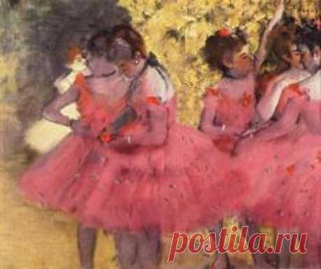 Los bailarines de color rosa, Antes del ballet - Edgar Degas