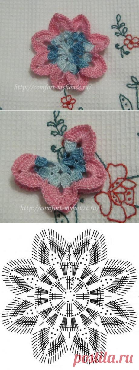 Простые и эффектные салфетки с объемными бабочками крючком | Уют и тепло моего дома