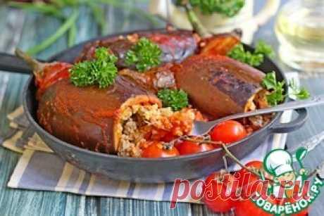 Баклажаны, фаршированные булгуром и овощами - кулинарный рецепт