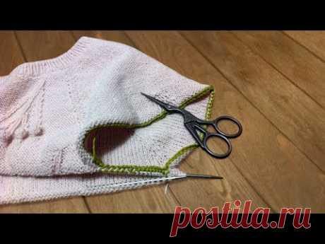 Как легко снять петли рукава и набрать ПОДРЕЗ на бросовую нить