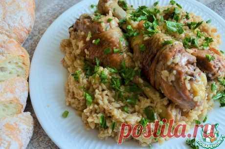 """Куриные голени с рисом """"Простецкие"""" Кулинарный рецепт"""