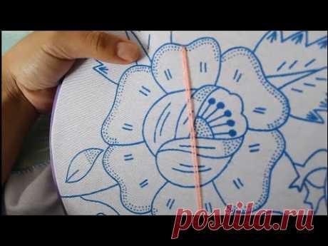 Bordado Fantasía Rosa 1 | Bordado Para Servilletas | El Bordador