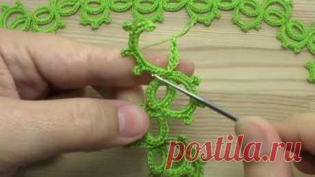 Вязание крючком ленточного ажурного кружева