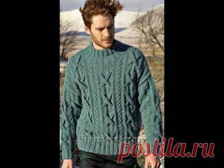 Модный Мужской Свитер Спицами - 2019 / Fashionable Men's Sweater Knitting