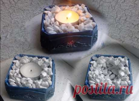 Очаровательные декоративные подсвечники из крышки от кофейной банки | diy-idea | Яндекс Дзен