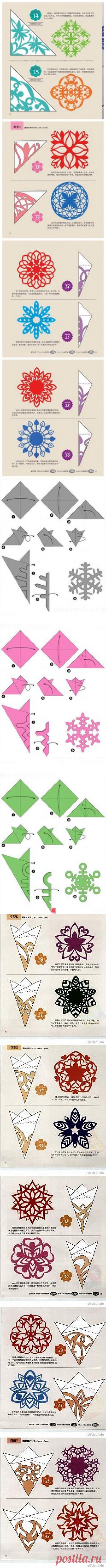 simge в Pinterest | Снежинки, Бумажные Снежинки и Бумага