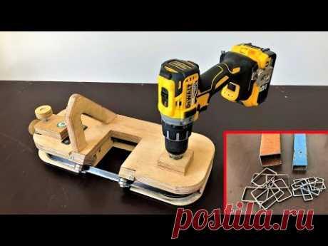 DIY Metal Cutting Bandsaw // Making a Portable Bandsaw (Drill Powered)