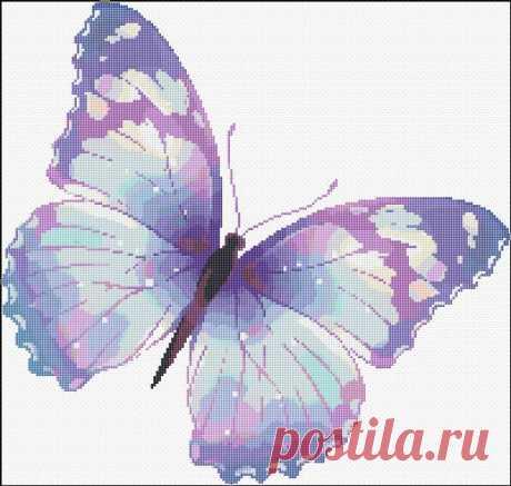 Схемы вышивки бабочек