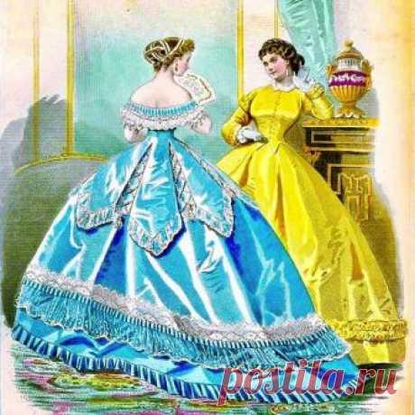 Les Modes Parisiennes, 1865 💙