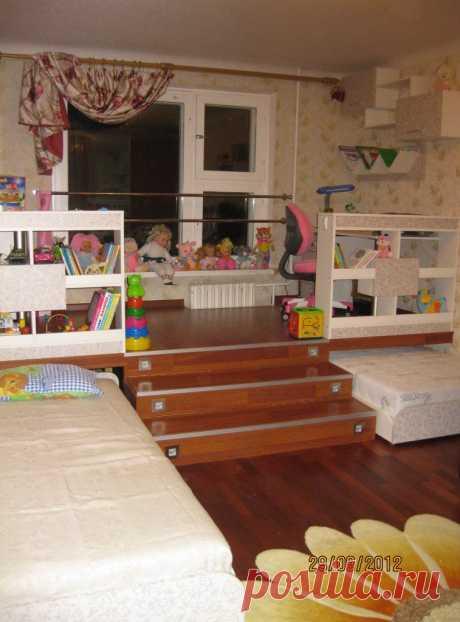 Подиум в детской комнате. Ещё одна идея и мнение - Форум о дизайне интерьера
