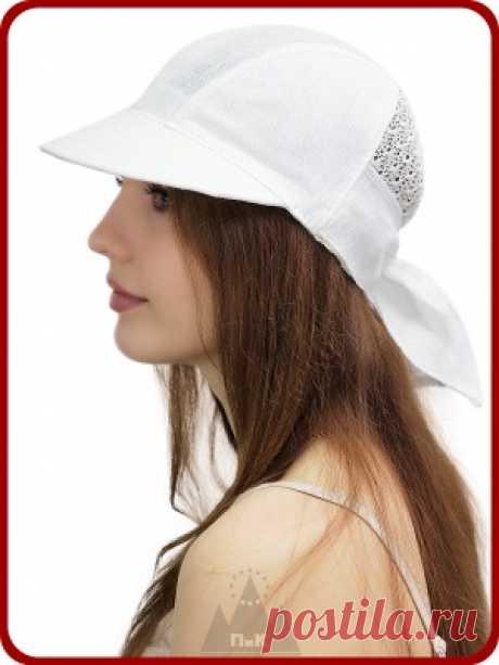 Бейсболка Мадлен - Женские шапки - Из хлопка и льна