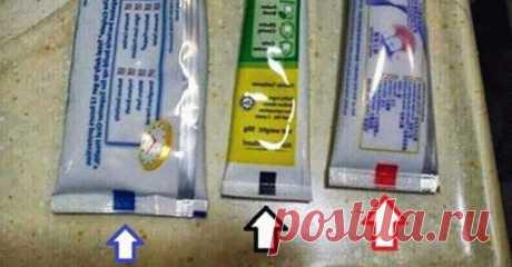 Какого цвета квадратик на тюбике вашей зубной пасты?