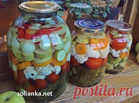 Ассорти на зиму из овощей или рецепт пикули маринованные