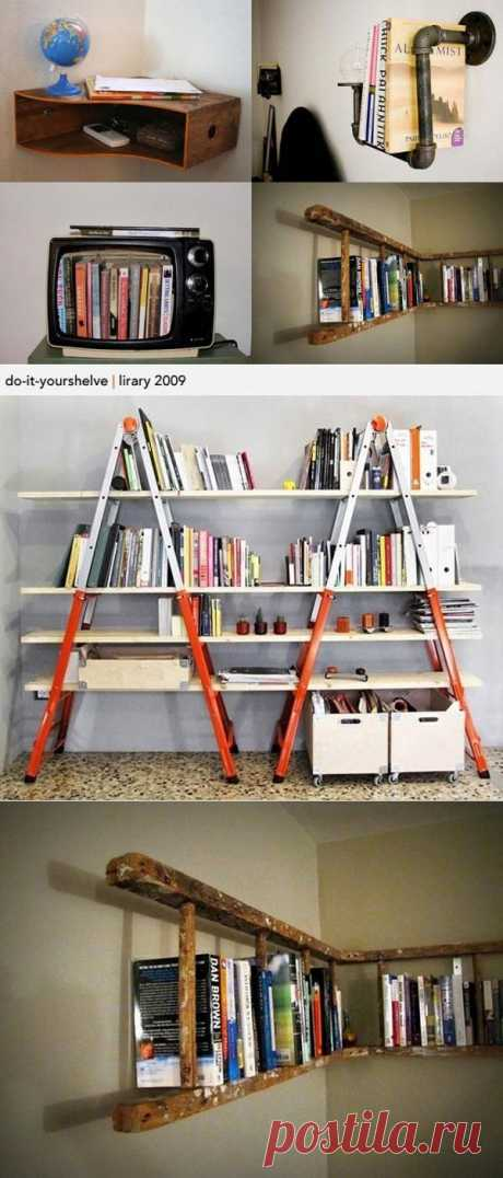 Cool ideas for book shelves