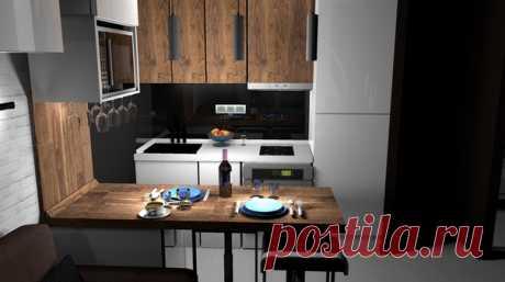 Кухня-гостиная с мужским характером 💪🏻
