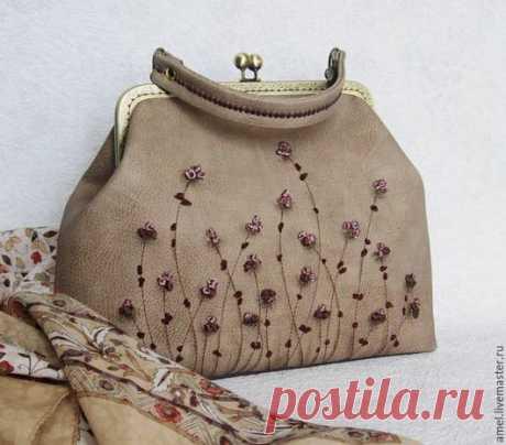 """Купить Сумка """"Вечер цвета мёда"""" - бежевый, цветочный, сумка ручной работы, сумка"""