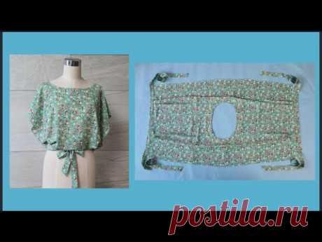 쉽고 빠르고 간편하게 만드는 사각형 블라우스 Rectangular blouse to make  quickly and easily