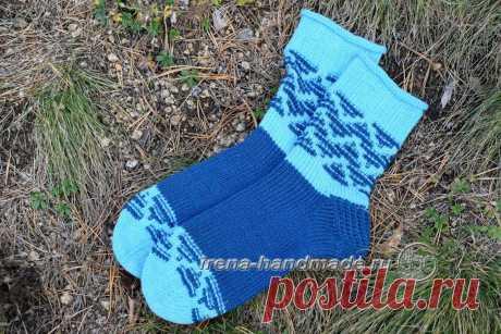 Носки «Вираж» ленивым жаккардом (вязание, схемы и фото) - Irena Handmade